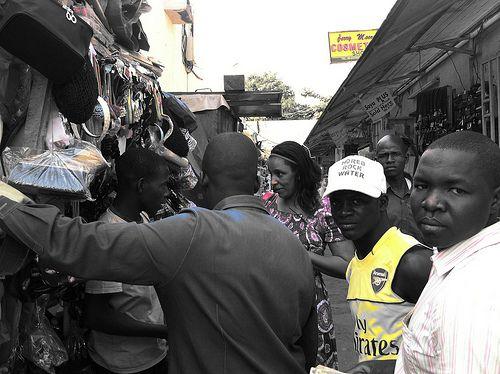 Film producer Zainab Muhammad Ahmad @ Utako Market in Abuja