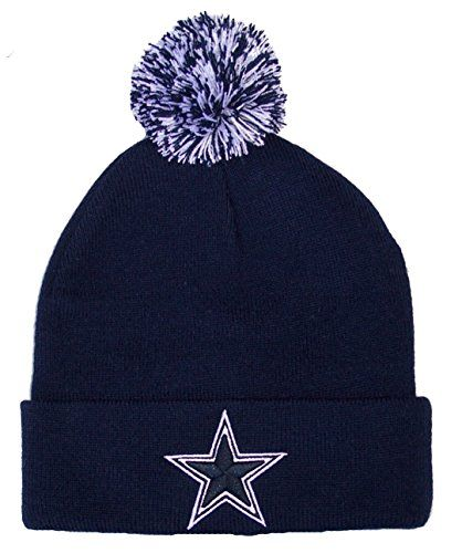82da1180341 ... spain dallas cowboys nfl knit pom cuff beanie cap hat authentic new  navy dallas cowboys authentic
