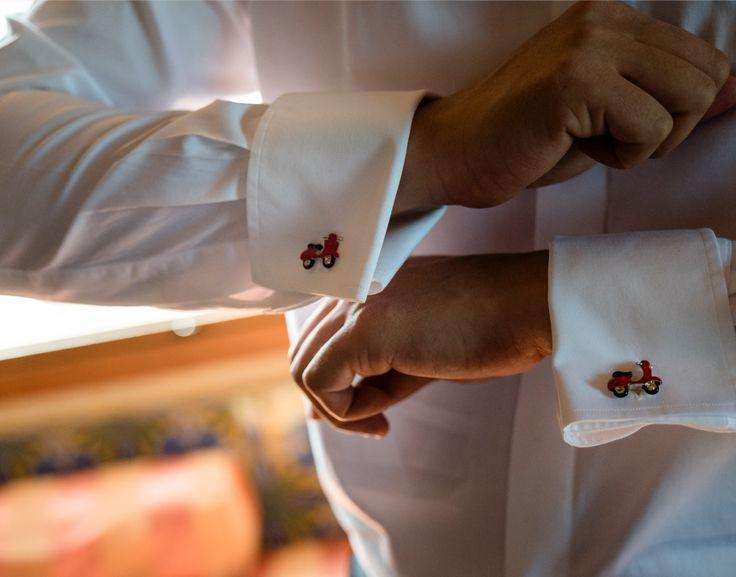 #vespa #cufflinks for a  #vespalover #groom