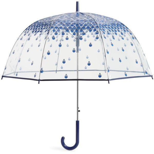 Vera Bradley Auto Open Bubble Umbrella in Cobalt Tile ($44) ❤ liked on Polyvore featuring accessories, umbrellas, umbrella, bags, extra, lullabies, cobalt tile, clear umbrella, bubble umbrella and clear bubble umbrella