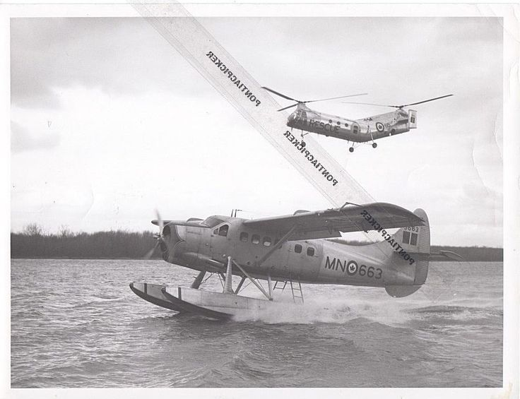 RCAF Boeing Piasecki H-21 Helicopter Fairchild Military Air Force Vtg Photo 6x8