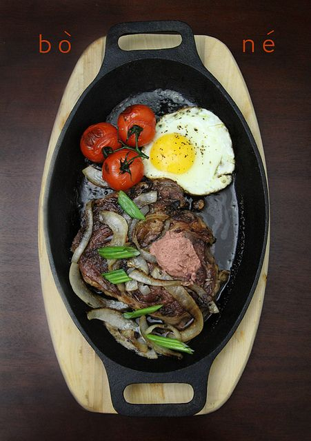 bo ne vietnamese steak eggs by Ravenous Couple, via Flickr    Minus the patè for me