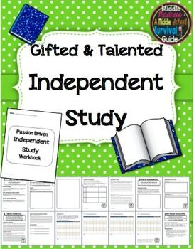 The purpose of this unit is for students to have the opportunity to complete an independent study with teacher guidance and assistance in developing the research content and product. Developed for a Gifted and Talented 7th and 8th grade independent study program.