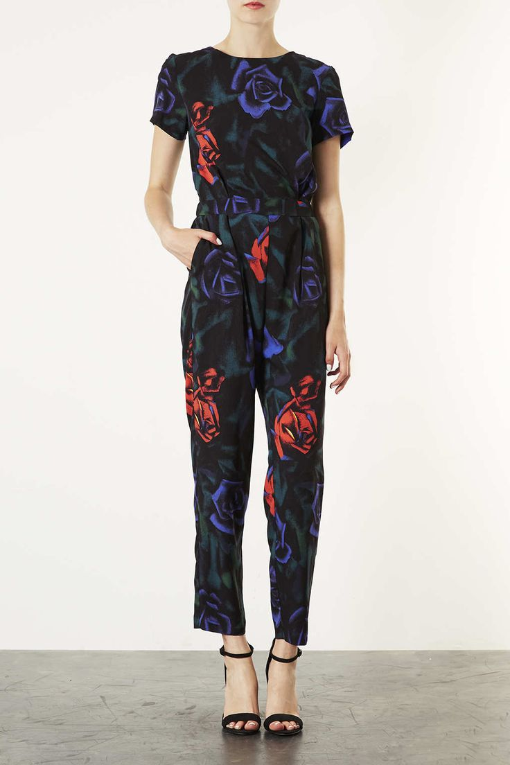 Rose Print Jumpsuit - New In This Week - New In - Topshop