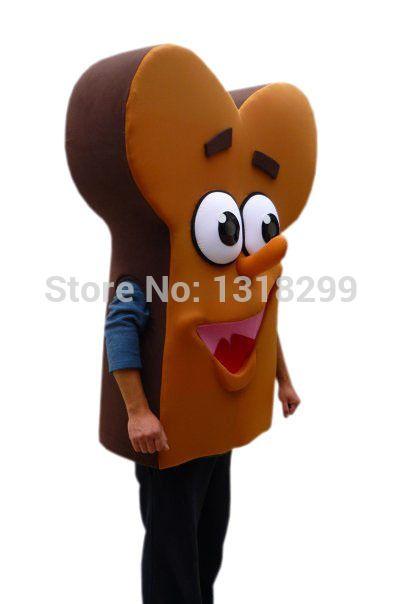 Талисмана парк форма кости хлеб еда костюм талисмана маскарадный костюм на необычные костюмы для косплея стиль mascotte карнавальный костюм комплекты