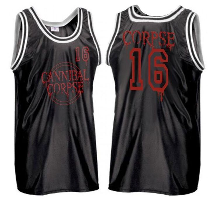 Cannibal Corpse Basketball Jersey http://shop.nuclearblast.com/en/products/band-merch/tanktop/l/cannibal-corpse-logo-sports-jersey.html