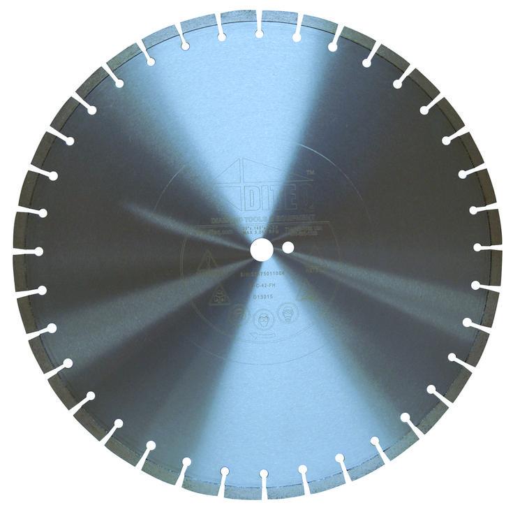 "Diteq D13006 C-42N 18"" X .125"" X 1"" ARBOR WET CURED CONCRETE DIAMOND BLADE"