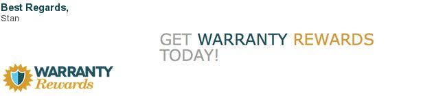 Best eMail Signatures - My Warranty Rewards branding tool.