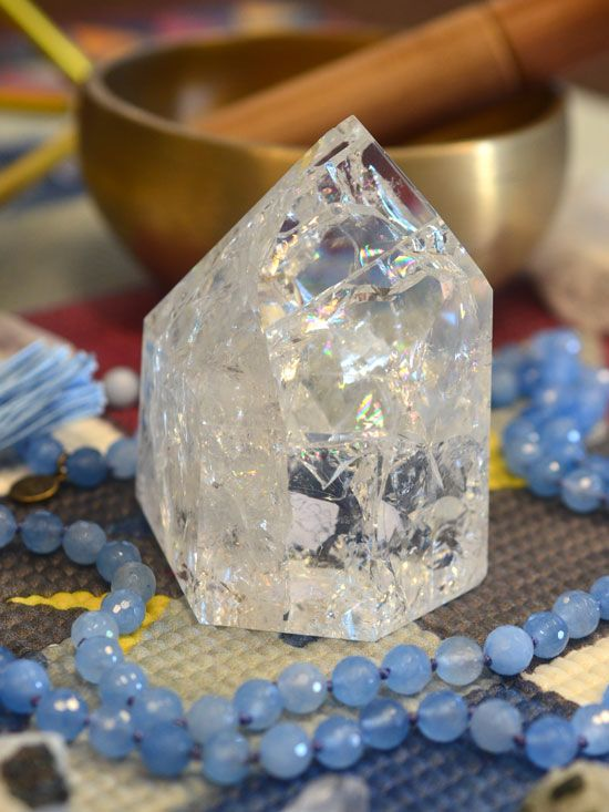 A quartz crystal point radiates pure white light into your space. It is a power crystal that everyone should have in their sacred space! #crystals
