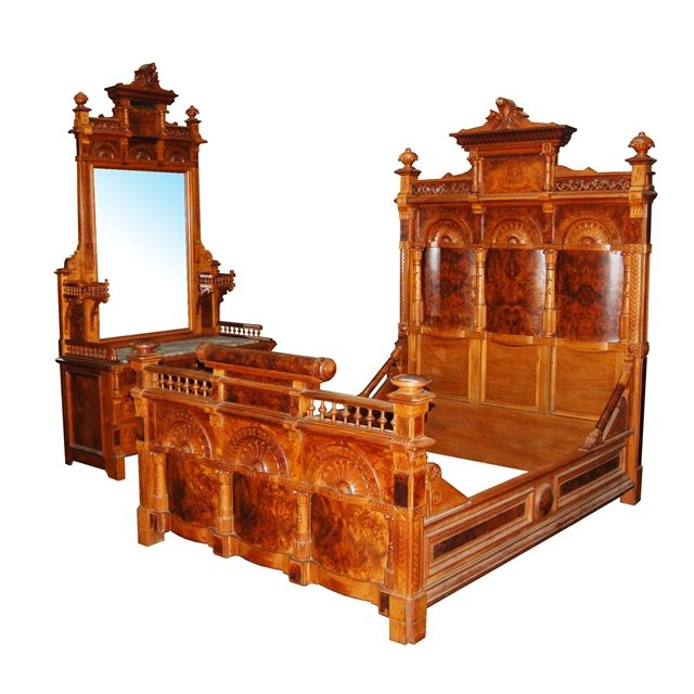 Best Antique Bed Set Images On Pinterest Antique Furniture