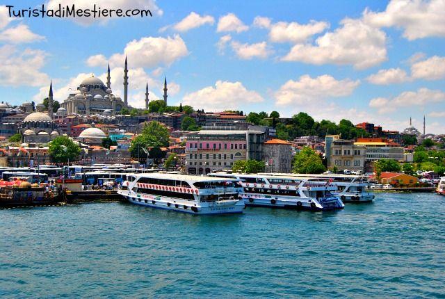Old Istanbul from Galata Bridge http://www.turistadimestiere.com/2015/07/diario-di-viaggio-istanbul.html