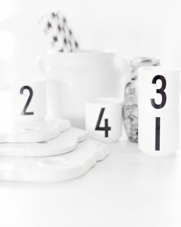 Via Anettes Hus | Design Letters | White | Kitchenware