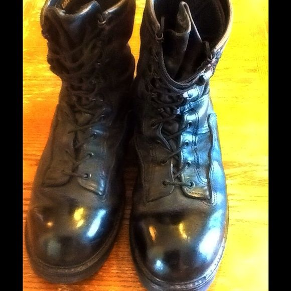Law enforcement boots Like new and polished, please let me know if you need more information or pictures Belleville Shoes