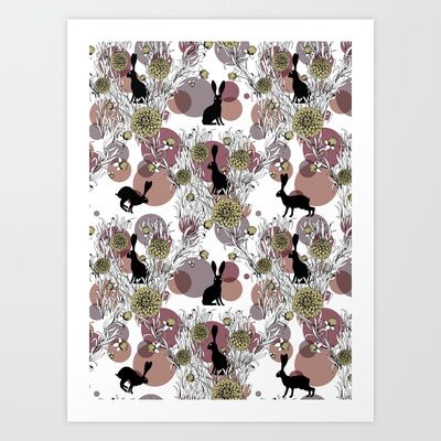 Ulha Hare and There B Art Print by rikki velez - $17.00