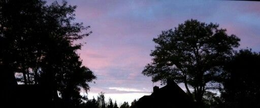 Roze/paarse lucht