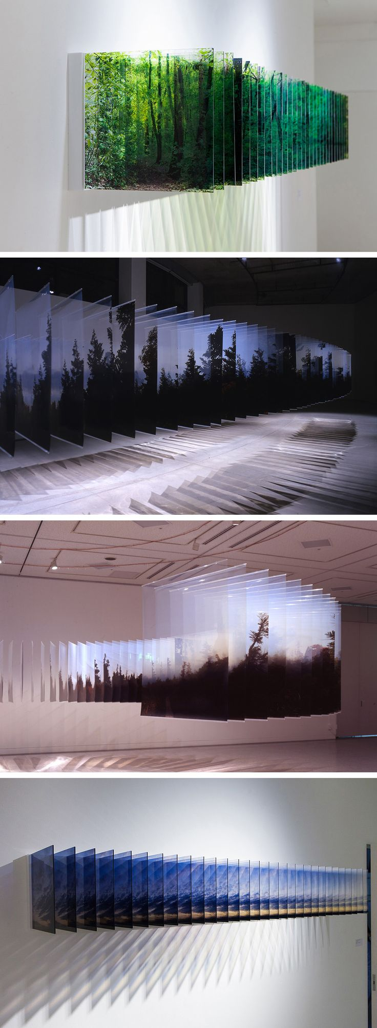 Three-Dimensional Landscapes Formed with Layered Acrylic Photographs by Nobuhiro Nakanishi