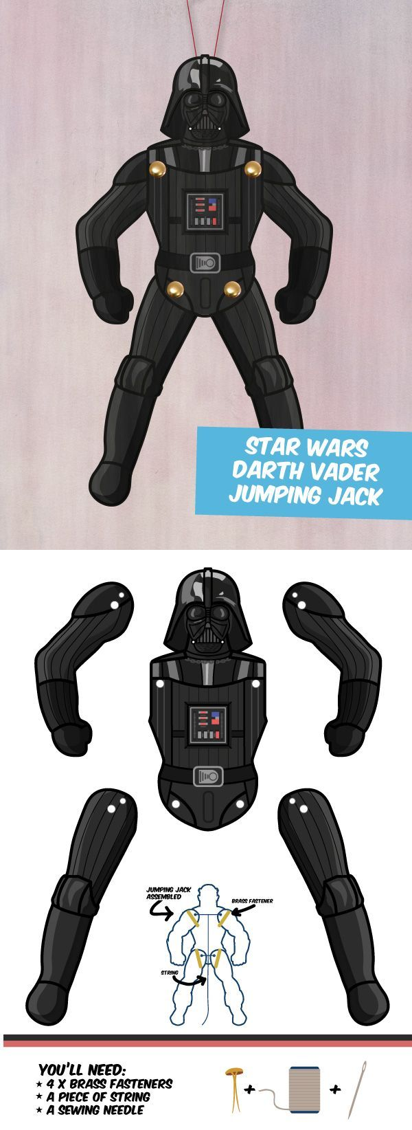 Create your own Darth Vader paper puppet!