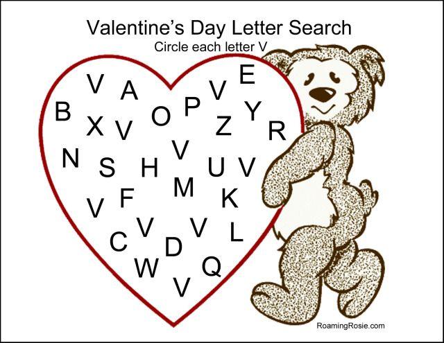 Valentine S Day Letter Worksheet Kidz Activities