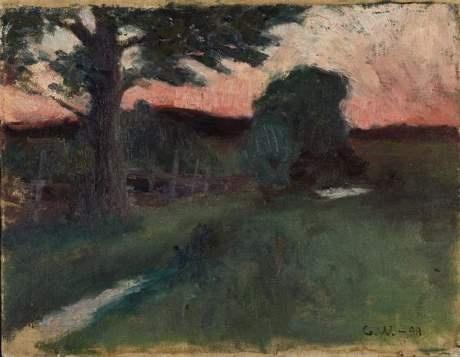 Gusten Widerbäck (1879-1970): Motiv från Ängsskär, Ingarö, 1898