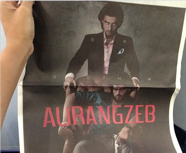 Aurangzeb Movie First Look Posters...Aurangzeb stars the energetic Arjun Kapoor, in a double role...   http://www.buzzintown.com/bollywood-news--exclusive-first-look-arjun-kapoors-aurangzeb/id--7639.html