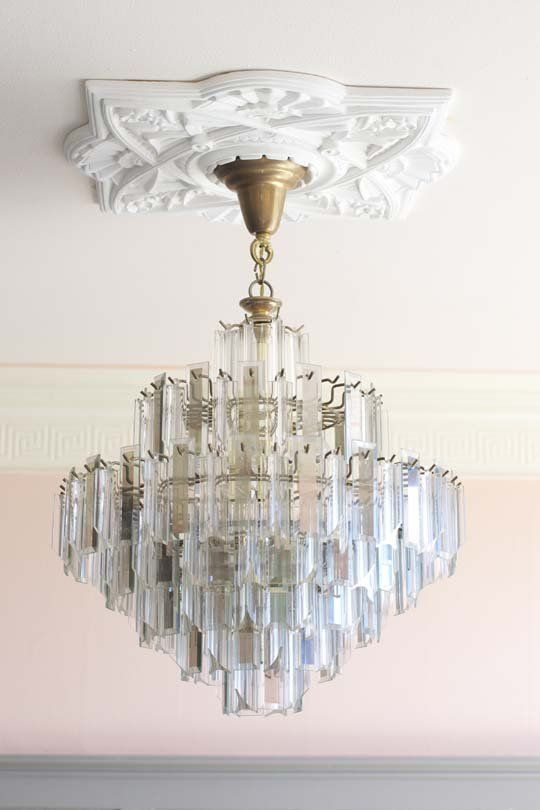 That light sconce and 'chandelier'! - Alysia's Stunning Vintage Sanctuary