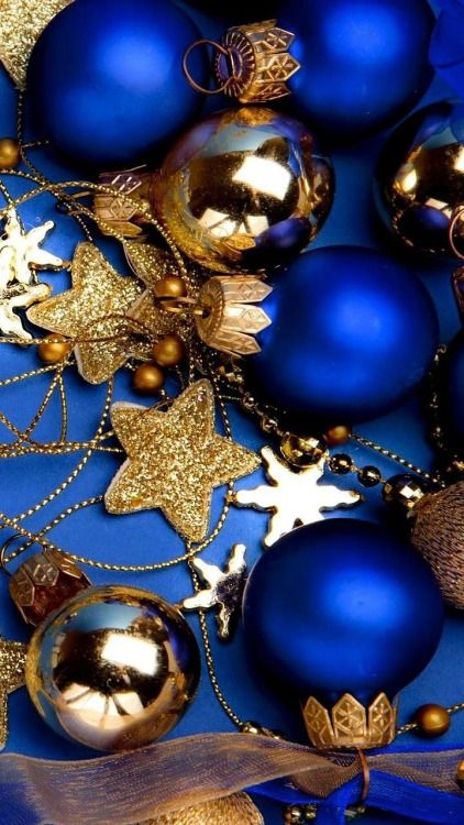An Elegant Christmas ~ In blue and gold.                                                                                                                                                                                 More