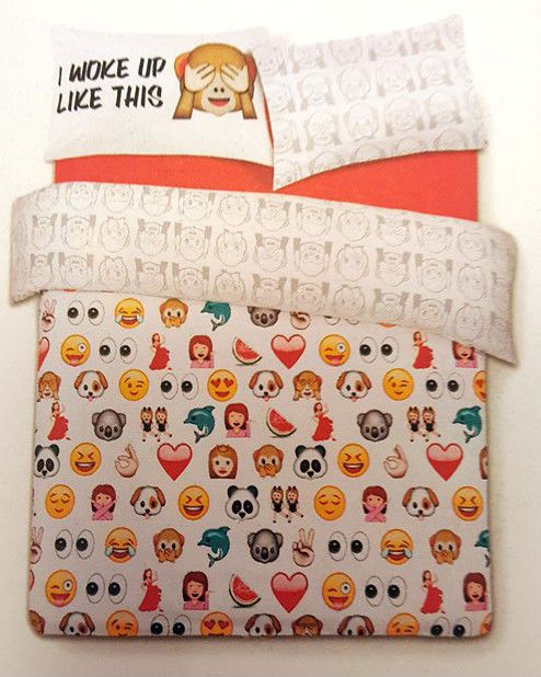 PRIMARK HOME BEDDING EMOJI ICON REVERSIBLE DUVET SET SINGLE DOUBLE NEW