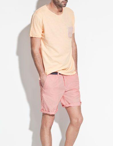 NEON T-SHIRT - T-shirts - Man - ZARA United States #Men #Boy #Man #Apparel #Look #Masculina #Wear #Guy #Fashion #Male #Homem #Modern #Fashion #T-Shirt #Boots  #Shoes #Military #Pants #Jeans #watch #shirt #Bracelet #Cardigan #Sweat #Clock #Glasses #Style #Accessories #beard #hairstyle #2013 #casual #street #haircuts #hairstyle #hair #sweater #mensfashion