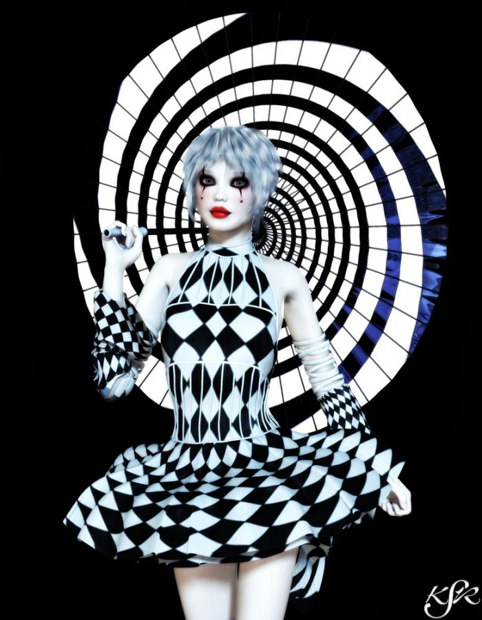 The costumes in the circus were centered around a black and white theme, just like the rest of the circus. I think Morgenstern chose to do this, because not ALL of the characters held darkness within them. She used the black and white scheme to show the display of darkness and light that was throughout the circus.