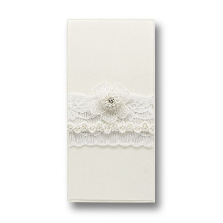 Monica white invitation - Handmade Wedding Invitations & Unique Stationery Online