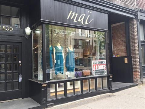 Local commercial à louer à Le Plateau-Mont-Royal (Montréal) - 3000 $  /mois +TPS/TVQ