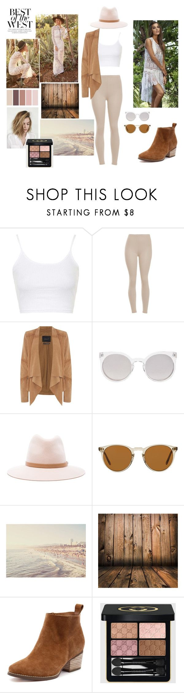 """""""Romantic Western Vibe"""" by michelle-251 on Polyvore featuring mode, Topshop, Oui, Kosha, rag & bone, Oliver Peoples, Gucci et modern"""