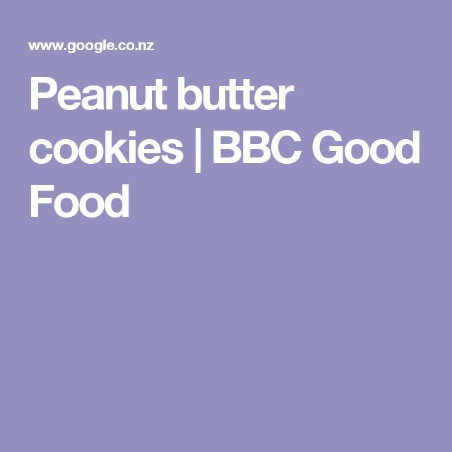 Peanut butter cookies   BBC Good Food