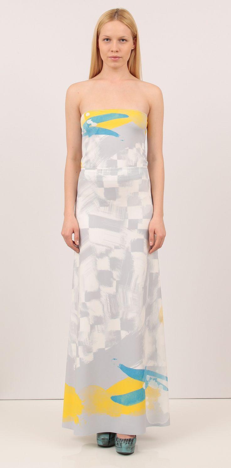 Long chess print skirt - Skirts  http://shop.lenacriveanu.ro/