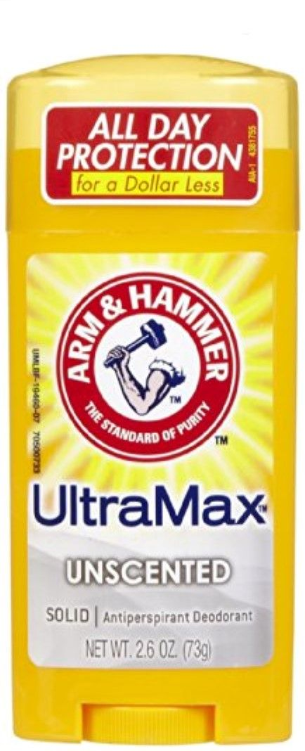 ARM & Hammer Ultramax Anti-Perspirant Deodorant Solid Unscented 2.60 oz