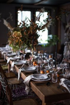 Thanksgiving Table Inspiration on A Daily Something /
