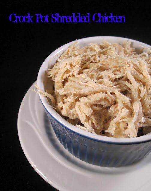 Crock pot shredded chicken. Use this recipe to make so many easy meals ...