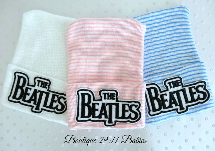 You Choose~Newborn Hospital Hat with Beatles Emblem-baby girl beatles hat-baby boy beatles hat-infant beatles hat by Boutique2911Babies on Etsy