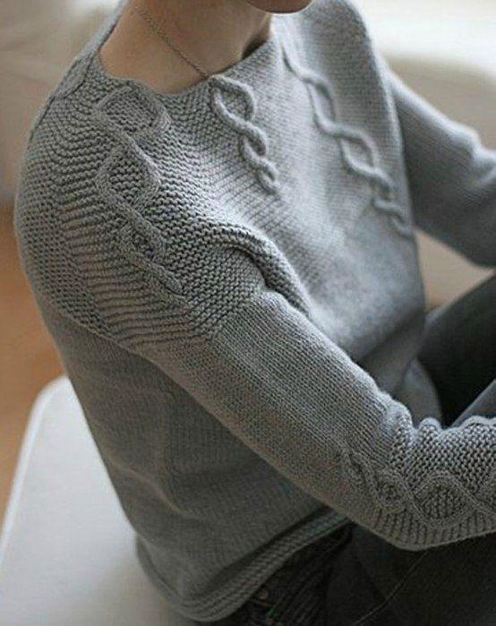 Пуловер реглан спицами схема описание. Пуловер вязанный сверху схема описание | Домоводство для всей семьи.