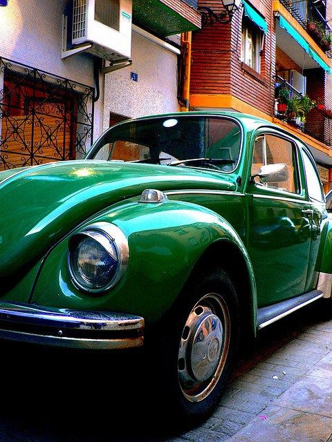 Green, German 1950: VW Beetle, Bus and Fiat Topolino on top. hnnng. <3 http://bestsellingcarsblog.com/1951/01/16/germany-1950-vw-beetle-bus-and-fiat-topolino-on-top/