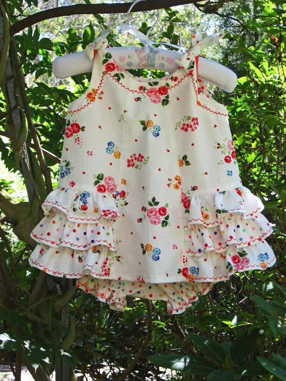 Sunny Dress and Bloomer PDF Sewing Pattern. by FelicityPatterns