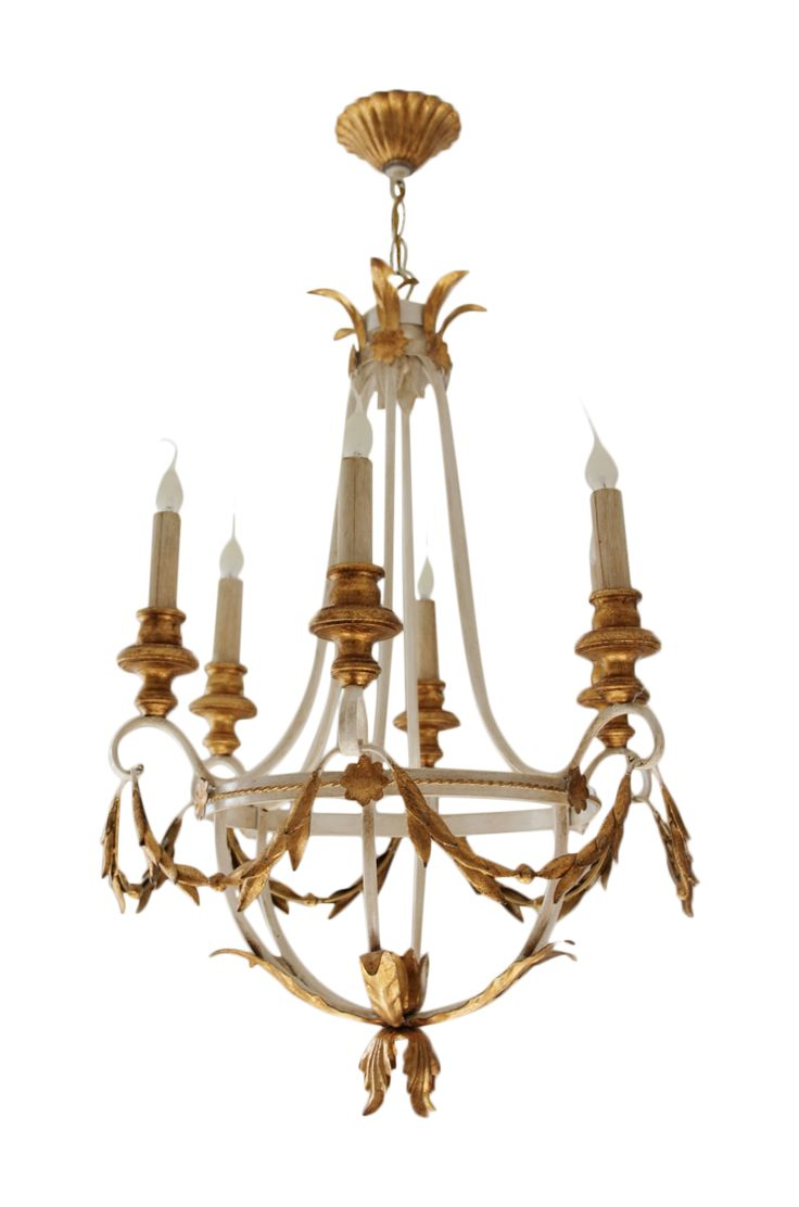 A Gorgeous Neo Classical Style 6 Light U0027Empireu0027 Chandelier From English  Company Bella Figura, In The Ivory And Gold Finish. Made In Italy.