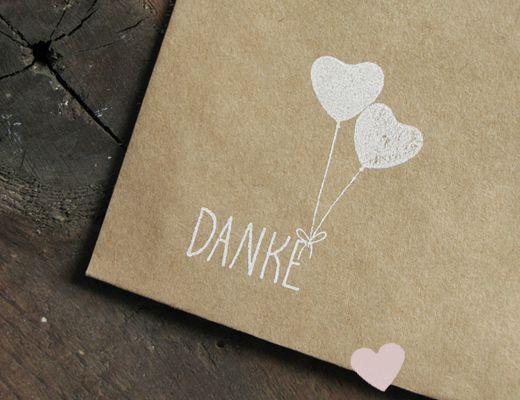 DANKE stempel #stamps #ballons #balloons #heart #herz