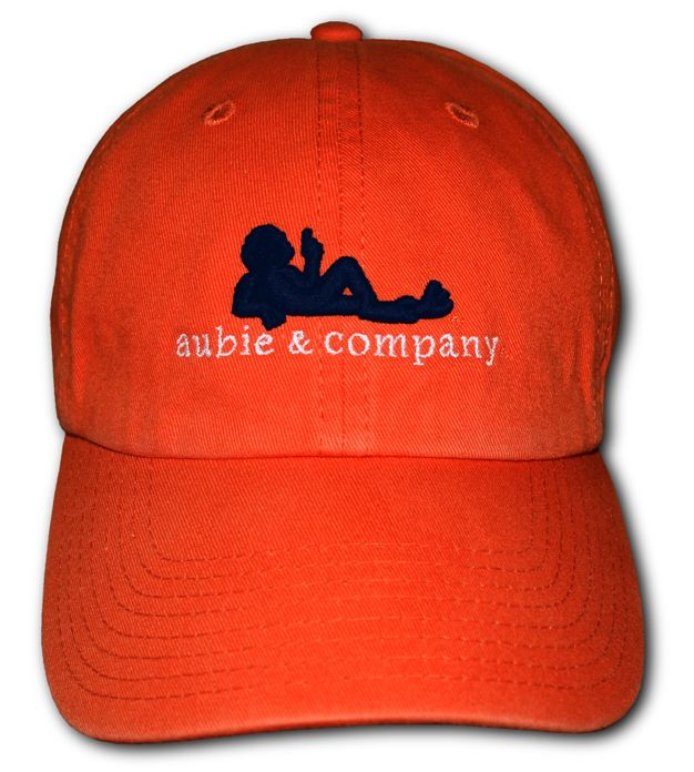 Orange+Aubie+&+Company+Custom+Embroidered+Cap
