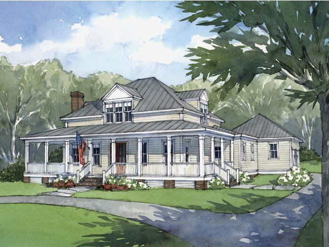 This Modern Farmhouse Is Just Right Open Floor House Plans Southern Living House Plans American Farmhouse