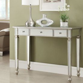 Coaster Fine Furniture Antique Silver Rectangular Console Table 950014