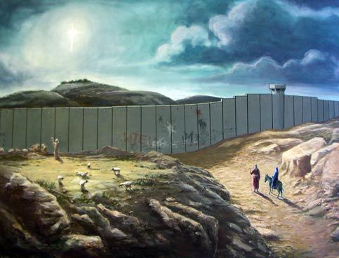 Photo of the Day: Christmas with Banksy   The Electronic Intifada