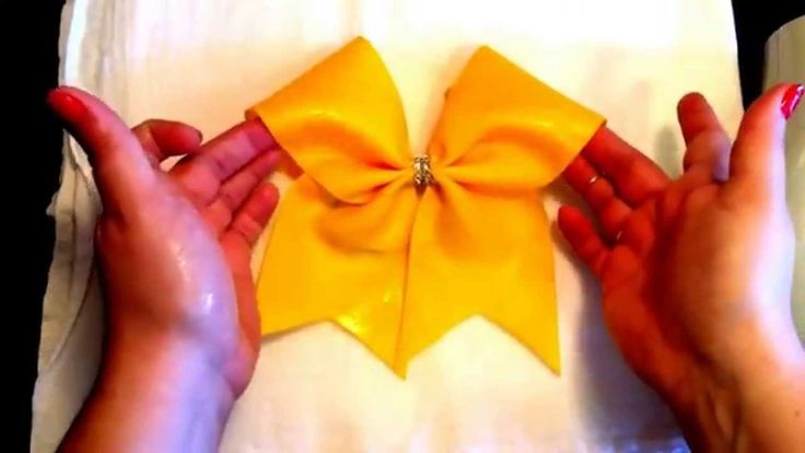 DIY Cheer Bow Tutorial How to Stiffen Your Bow!