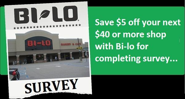 337a854102c6 Tell Bi-lo Feedback in Survey to get coupon for  5 discount on your next  purchase of  40 or more  Survey  Sweepstakes