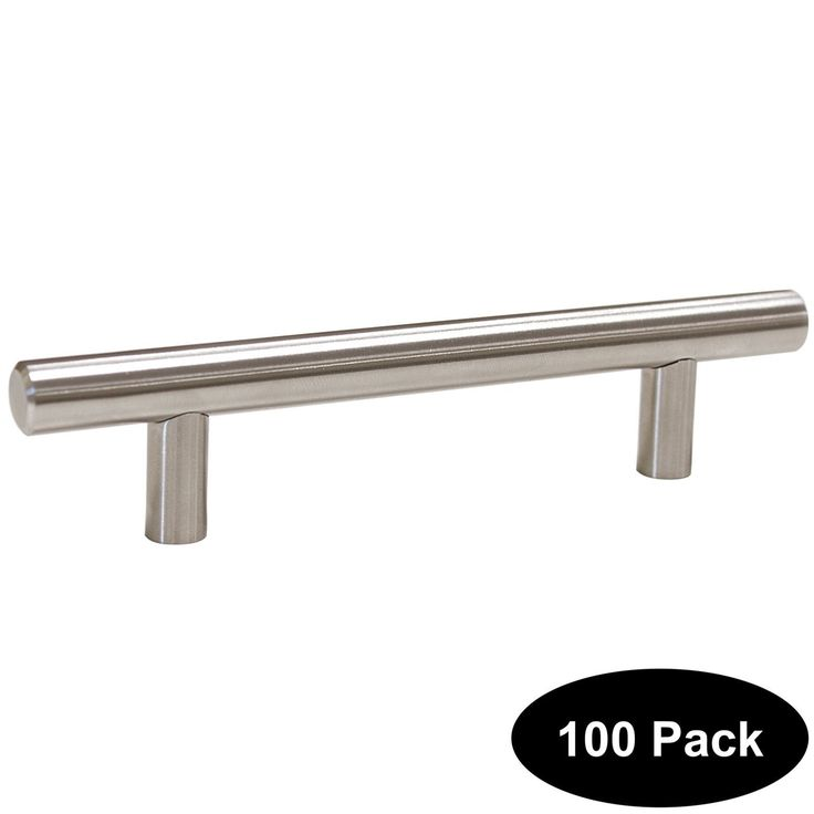 100 pack 96mm(3.75inch) Hole Centers Stainless Steel Kitchen Cabinet Door Handles and Pulls Cabinet Knobs Length 150mm(6inch) Brushed Nickel
